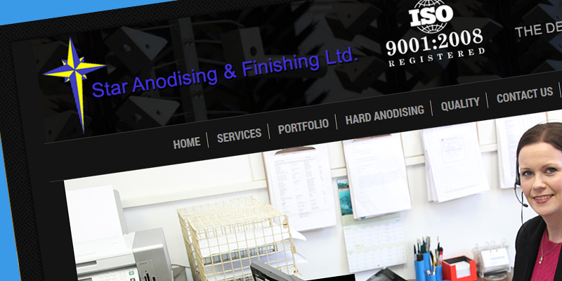 Web design for Star Anodising