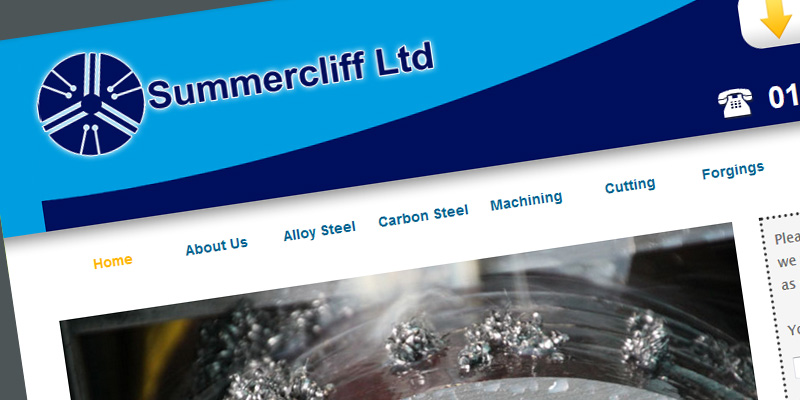 Web design for Summercliff