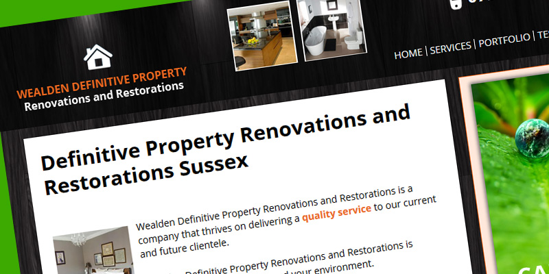 Web design for Wealden Property Renovations